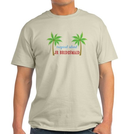 Jr Bridesmaid Tropical Wedding Light T-Shirt