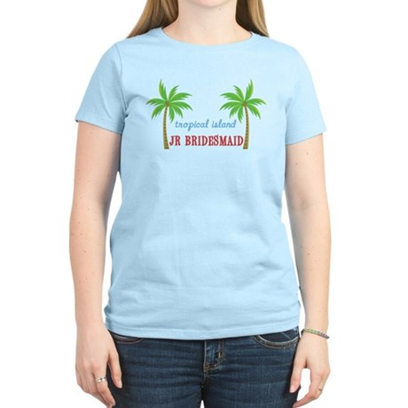 Jr Bridesmaid Tropical Wedding Women's Light T-Shi