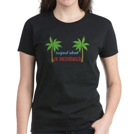 Jr Bridesmaid Tropical Wedding Women's Dark T-Shir