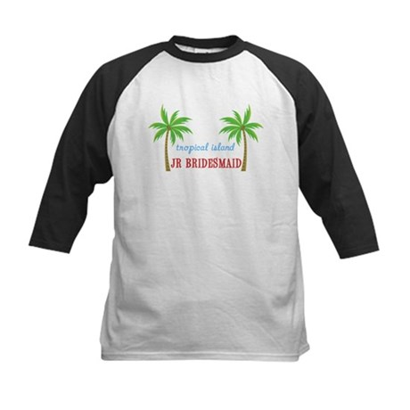 Jr Bridesmaid Tropical Wedding Kids Baseball Jerse