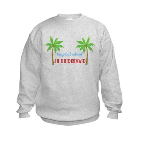 Jr Bridesmaid Tropical Wedding Kids Sweatshirt