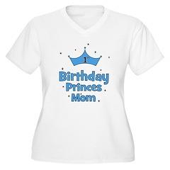 CUSTOM - 1st Birthday Prince! Women's Plus Size V-