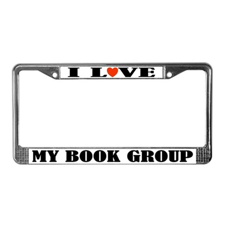 Book Group License Plate Frame