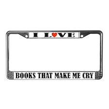 I Love Books License Plate Frame
