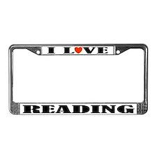 I Love Reading License Plate Frame