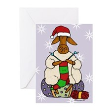 Knitting sheep Greeting Cards (Pk of 10)