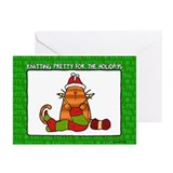 Knitting christmas Greeting Cards (10 Pack)