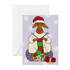 Knitting sheep Greeting Cards (Pk of 20)