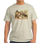Dog Group From Antique Art Light T-Shirt