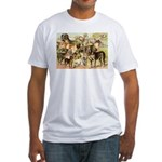 Dog Group From Antique Art Fitted T-Shirt