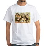 Dog Group From Antique Art White T-Shirt