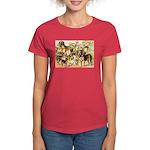 Dog Group From Antique Art Women's Dark T-Shirt