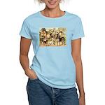 Dog Group From Antique Art Women's Light T-Shirt