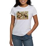 Dog Group From Antique Art Women's T-Shirt