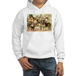 Dog Group From Antique Art Hooded Sweatshirt