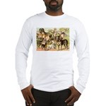 Dog Group From Antique Art Long Sleeve T-Shirt