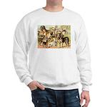 Dog Group From Antique Art Sweatshirt