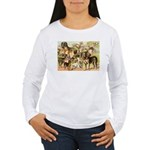 Dog Group From Antique Art Women's Long Sleeve T-S