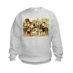 Dog Group From Antique Art Kids Sweatshirt