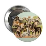 Dog Group From Antique Art Button