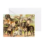 Dog Group From Antique Art Greeting Cards (Pk of 1
