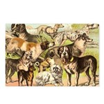 Dog Group From Antique Art Postcards (Package of 8