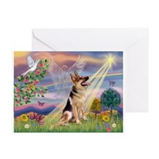 Cloud Angel & G-Shepherd Greeting Cards (Pk of 20)