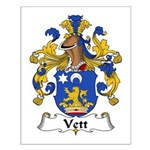 Vett Family Crest Small Poster