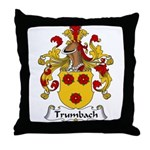 Trumbach Family Crest Throw Pillow
