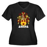 Trumbach Family Crest Women's Plus Size V-Neck Dar