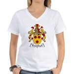 Trumbach Family Crest Women's V-Neck T-Shirt