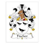Tischer Family Crest Small Poster