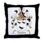 Tischer Family Crest Throw Pillow