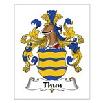 Thun Family Crest Small Poster