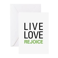Live Love Rejoice Greeting Cards (Pk of 10)