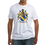 Strasser Family Crest Fitted T-Shirt