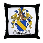 Strasser Family Crest Throw Pillow