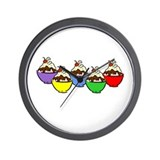 Sundaes Wall Clock