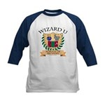 Wizard U Alchemy Kids Navy Blue Baseball Jersey