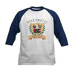 Wizard U Alchemy Kids Navy Blue Baseball Jersey