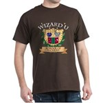 Wizard U Alchemy Gamer RPG HP Brown T-Shirt