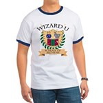 Wizard U Alchemy RPG Gamer HP Navy Blue Ringer T