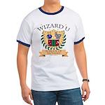 Wizard U Alchemy RPG Gamer HP Navy Blue Ringer T