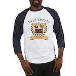 Wizard U Alchemy RPG Gamer HP Blue Baseball Jersey