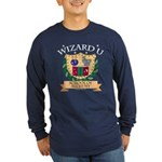 Wizard U Alchemy RPG Gamer HP Long Sleeve Navy Tee