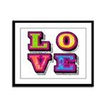 Love Framed Panel Print