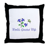 WORLDS GREATEST WIFE Throw Pillow