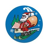 Santa's on the way Ornament (Round)