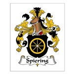 Spiering Family Crest  Small Poster