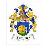 Sommer Family Crest  Small Poster